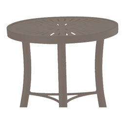 Tropitone Side Table Mocha Cushioned Poolside Seating