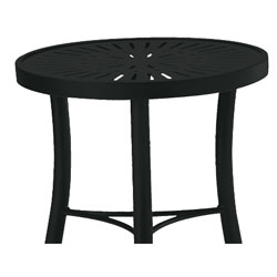 Tropitone Side Table Obsidian Cushioned Poolside Seating