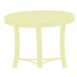 Tropitone Side Table Parchment Cushioned Poolside Seating