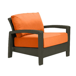 Tropitone Open Arm Tangerine Cushioned Poolside Seating