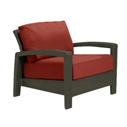 Tropitone Open Arm Brick Cushioned Poolside Seating