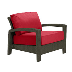 Tropitone Open Arm Red Cushioned Poolside Seating
