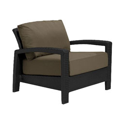 Tropitone Open Arm Cocoa Cushioned Poolside Seating