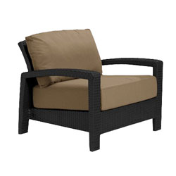 Tropitone Open Arm Camel Cushioned Poolside Seating