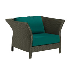 Tropitone Side Arm Teal Cushioned Poolside Seating