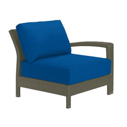 Tropitone Left Arm Blue Cushioned Poolside Seating