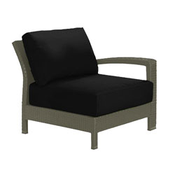 Tropitone Left Arm Black Cushioned Poolside Seating