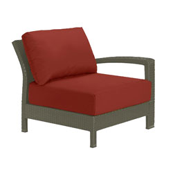 Tropitone Left Arm Brick Cushioned Poolside Seating