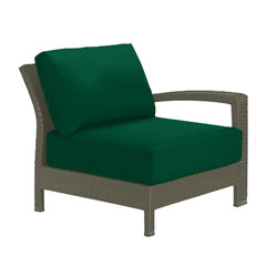 Tropitone Left Arm FrstGrn Cushioned Poolside Seating