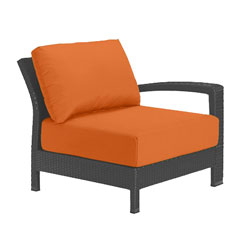 Tropitone Left Arm Tangerine Cushioned Poolside Seating