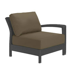 Tropitone Left Arm Cocoa Cushioned Poolside Seating