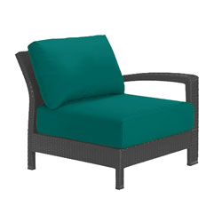 Tropitone Left Arm Teal Cushioned Poolside Seating