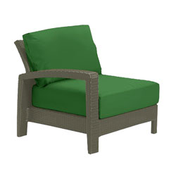 Tropitone Right Arm Palm Cushioned Poolside Seating