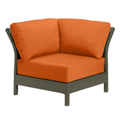 Tropitone Corner Seat Tangerine Cushioned Poolside Seating