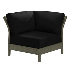 Tropitone Corner Seat Black Cushioned Poolside Seating