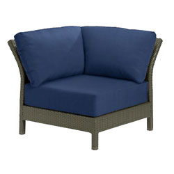 Tropitone Corner Seat Navy Cushioned Poolside Seating
