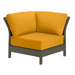 Tropitone Corner Seat Yellow Cushioned Poolside Seating