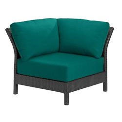 Tropitone Corner Seat Teal Cushioned Poolside Seating