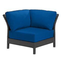 Tropitone Corner Seat Blue Cushioned Poolside Seating
