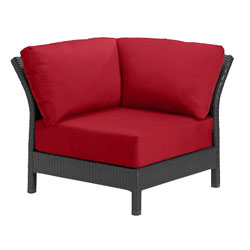 Tropitone Corner Seat Red Cushioned Poolside Seating