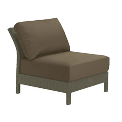 Tropitone Armless Seat Cocoa Cushioned Poolside Seating