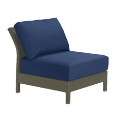 Tropitone Armless Seat Navy Cushioned Poolside Seating