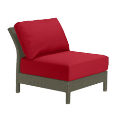 Tropitone Armless Seat Red Cushioned Poolside Seating