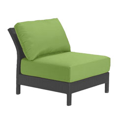 Tropitone Armless Seat Parrot Cushioned Poolside Seating