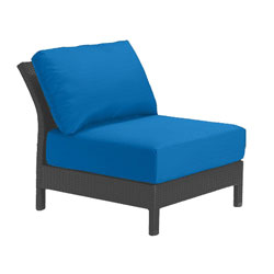 Tropitone Armless Seat Capri Cushioned Poolside Seating