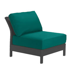 Tropitone Armless Seat Teal Cushioned Poolside Seating