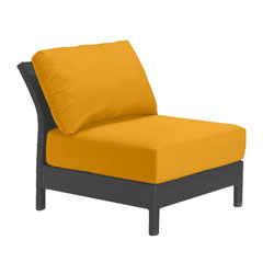 Tropitone Armless Seat Yellow Cushioned Poolside Seating