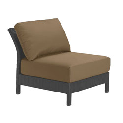 Tropitone Armless Seat Camel Cushioned Poolside Seating