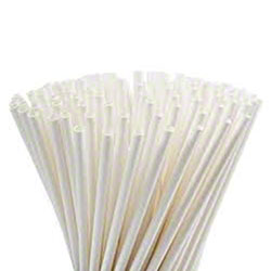 White Paper Straws, Unwrapped