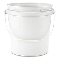 Pail, Commercial-Grade White 1 Gallon Pail