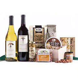 Free Offer:  Omaha Steaks Wine & Goodies Basket
