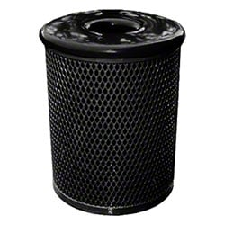 Classic Style 32 Gal. Trash Receptacle - Black