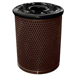 Classic Style 32 Gal. Trash Receptacle - Brown