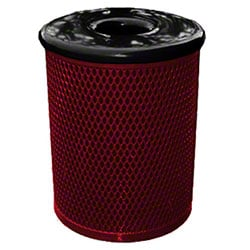 Classic Style 32 Gal. Trash Receptacle - Burgundy