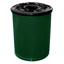 Classic Style 32 Gal. Trash Receptacle - Green