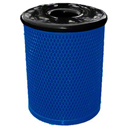 Classic Style 32 Gal. Trash Receptacle - Mystic Blue