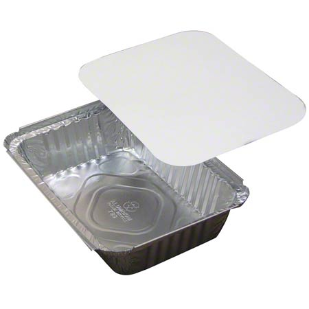 Pactiv Carry-Out Oblong Tray w/ Foil Cover