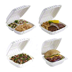 Pactiv EarthChoice™ SmartLock® Hinged Lid Containers