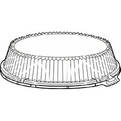 """Pactiv Clear Dome Lid  For 10 1/4"""" Dinner Plate"""