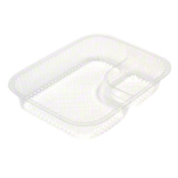 Pactiv ClearView® Large 2-Compartment Nacho Tray