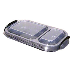 Pactiv ClearView® MealMaster™ Two Compartment Casserole