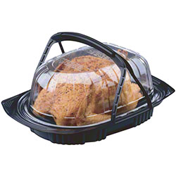 Pactiv ClearView® MealMaster™ Handled Chicken Roaster