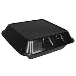Pactiv SmartLock® Black Hinged Lid Container - Lg, 1 Cmpt