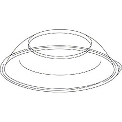 Pactiv Clear Plastic Dome Lid For 92230K