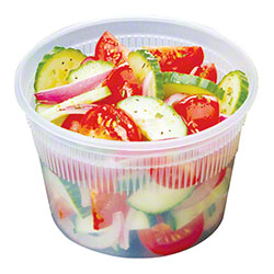 DELItainer® Microwaveable Deli Combo Pack - 16 oz., Clear
