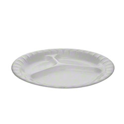 Pactiv Placesetter® Deluxe No. 9 3-Comp. Plate-8 7/8,White